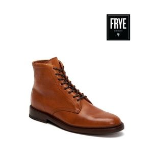 Frye Men's Caramel Leather Lace-Up Boot